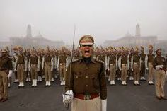 Indian Soldiers Marching During Rehearsal before 26 January
