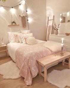 Cute Bedroom Decor, Bedroom Decor For Teen Girls, Girl Bedroom Designs, Teen Room Decor, Stylish Bedroom, Room Ideas Bedroom, Small Room Bedroom, Teen Bedroom, Bedroom Inspo