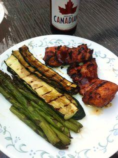 Summer BBQ's Asparagus, zucchini, riblets