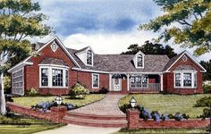Angled Country Ranch - 3823JA | Country, Ranch, Photo Gallery, 1st Floor Master Suite, CAD Available, PDF, Split Bedrooms | Architectural Designs