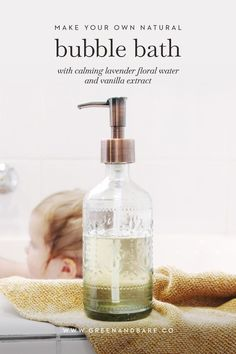 Make your own homemade DIY bubble bath liquid with calming lavender floral waster and vanilla extrac Bath Recipes, Diy Lotion, How To Exfoliate Skin, Natural Skin Care, Natural Health, Natural Hair, Diy Skin Care, Organic Beauty, Bubbles