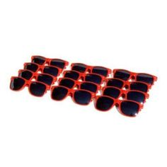 aebb26dfafcb QLook Vintage Blues Brothers Wayfarer Style Sunglasses 12 Pack - Red QLook.   28.95