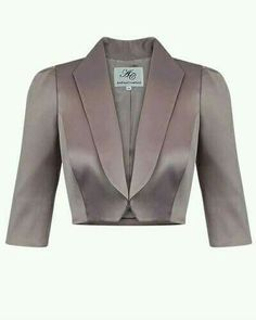 Chaqueta corta Classy Outfits, Cool Outfits, Coat Patterns, Mode Hijab, Elegant Outfit, Blazer Jacket, Blouse Designs, Fashion Dresses, Couture