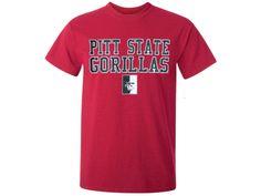 Pitt State Gorillas Classic Tee - Antique Red