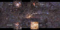 ESO telescope images stunning central region of Milky Way, finds ancient star burst Helix Nebula, Orion Nebula, Andromeda Galaxy, Carina Nebula, Hubble Pictures, Hubble Images, Telescope Images, Hubble Space Telescope, Cosmos