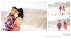 Ritz Carlton Half Moon Bay engagement portraits | UMeUsStudios.com