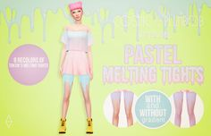 Today I present you guys to the Pastel Melting Tights! I've been thinking about doing them for a long time, and I'm pretty satisfied with how they ended up looking. There are 8 pastel recolors: blue,...