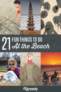 Think beyond swimming and building sand castles...(although we LOVE those things, too, of course!) Kids Beach Activities, Beach Games, Beach Kids, Beach Day, Beach Trip, Beach Vacations, Beach Travel, Am Meer, Beach Camping