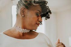 Birdcage veil vintage inspired bridal, by Munaluchi Bride Vintage Headpiece, Vintage Veils, Silk Bra, Embellished Heels, New Orleans Wedding, Silver Pearls, Retro Fashion, Affair, Vintage Inspired