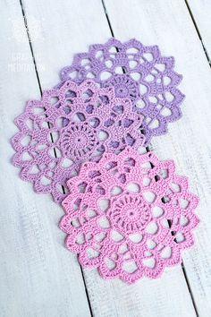 Crochet sottobicchieri centrino decorazione della tavola di