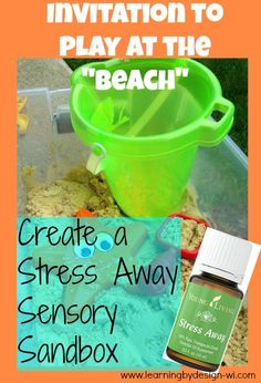 Sensory sand play with essential oils