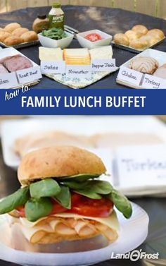 Pull out the sandwich fixings! Set out a buffet of sandwich meats (only the best, Land O'Frost, of course), cheeses, and plenty of toppings. Add sides of fruit salad and an assortment of chips for a family lunch buffet.