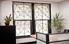 A custom window guards fabrication and installation for a commercial property in Chicago. Iron Windows, Window Well, Custom Windows, Custom Metal, Window Coverings, Wrought Iron, Commercial, Fabric, Remodeling