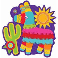 5271e7b19e Add a festive look to your fiesta party with a Sombrero   Flowers Fiesta  Cutout! This cardstock party decoration features a sombrero