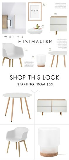 """White Minimalism"" by c-silla ❤ liked on Polyvore featuring interior, interiors, interior design, home, home decor, interior decorating, MASH Studios, Muuto and Dot & Bo"