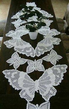 Farfalle filet crochet