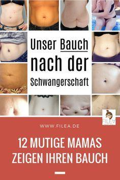 12 mutige Mamas zeigen ihren Bauch nach der Schwangerschaft und wollen damit sagen, wie wichtig es ist, sich selbst anzunehmen.