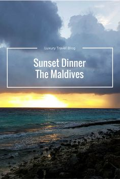 Planning a luxury dream trip to the Maldives? Try booking a sunset dinner on the beach, you won't regret it!