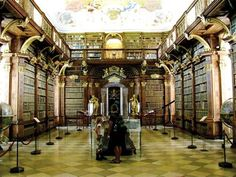 Stift Melk ( Melk Abbey) in Austria famous library