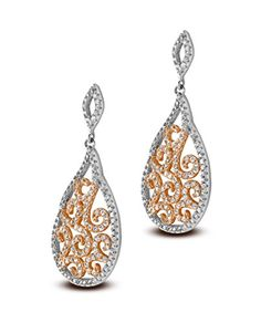 Velini 925 sterling silver rose gold earrings micro pave setting 165 CZ stones * You can find more details by visiting the affiliate link Amazon.com.