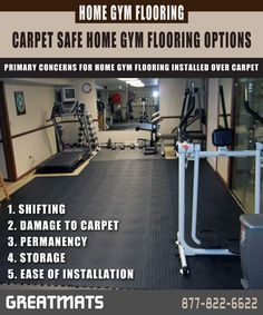 Best Home Gym Flooring Over Carpet Design Hubby S Gym