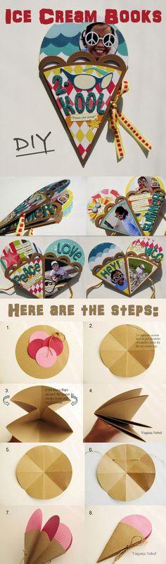 DIY del helado Books arte en Manualidades