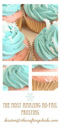 The **MOST** Amazing No-Fail CUPCAKES & FROSTING! I'm not one for box mixes but the frosting looks yummy