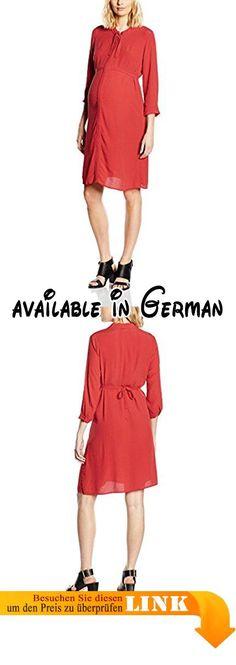MAMALICIOUS Damen Umstandskleid MLTONI 3/4 WOVEN DRESS, Midi, Einfarbig, Gr. 42 (Herstellergröße: XL), Rot (Beet Red). Dürfen wir vorstellen: Elegantes Blusenkleid von MAMA.LICIOUS. Das langärmelige Kleid ist locker geschnitten und besitzt spannende Details, wie beispielsweise die Ösen am Stehkragen. Hier kann der Ausschnitt ähnlich wie bei einer Schluppenbluse mit einem Band zusammen gebunden werden.. Das Kleid aus zart fließender Viskose kann mithilfe eines Gürtelbands
