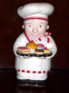 Mary Engelbreit Baker Man Chef Cookie Jar I so regret not getting this one when it was still available. Almost impossible to find now, even on Ebay and other secondary markets!