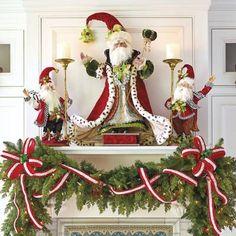 Indoor and Outdoor Christmas Decorations Christmas Fireplace, Christmas Mantels, Christmas Love, All Things Christmas, Christmas Holidays, Christmas Wreaths, Christmas Crafts, Christmas Ornaments, Christmas Chandelier