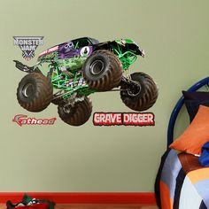 FATHEAD Grave Digger-Fathead Jr. Graphic Wall Décor *** More info could be found at the image url. (This is an affiliate link and I receive a commission for the sales)