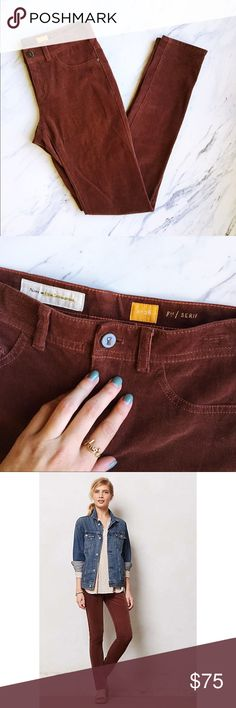 Anthropologie Pilcro Brown Corduroy Leggings Practically perfect condition! Slightly higher waist than normal jeans, super soft and comfortable. The perfect pant for fall! Super versatile and cute. Anthropologie Pants Leggings