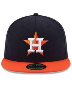 New Era Houston Astros Authentic Collection 59FIFTY Cap - Navy/Orange 7 3/8