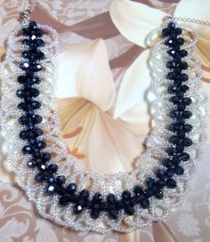 Right angle weave millipede necklace or bracelet More