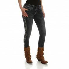 Wrangler Rock 47 Women's Embroidered Skinny Jean