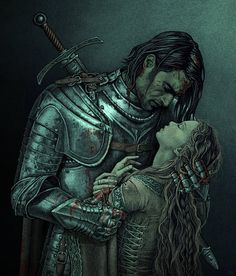 """UnKiss by bubug.  """"""""I could keep you safe,"""" he rasped. """"They're all afraid of me. No one would hurt you again, or I'd kill them."""" He yanked her closer, and for a moment she thought he meant to kiss her. He was too strong to fight. She closed her eyes, wanting it to be over, but nothing happened. """"Still can't bear to look, can you?"""" she heard him say.""""""""  """"A Clash of Kings"""" by G.R.R.M"""