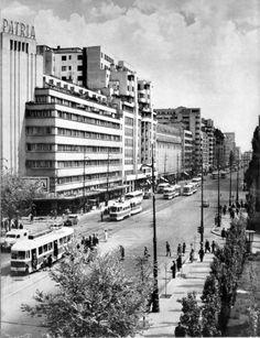 G-ral Gh. Magheru al tramvaielor? Bucharest Romania, My Town, Verona, New York Skyline, Snow, Urban, Paris, History, Travel