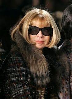 Vogue editor in chief Anna Wintour.