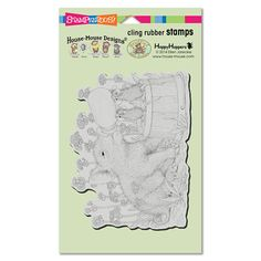 """CLING PIGLET PALS"", Stock #: HMCR55, from House-Mouse Designs®. This item was recently purchased off from our web site. Click on the image to see more information."