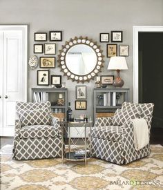 ASYMMETRICAL BALANCE- this living room displays asymmetrical balnce because the central point has different objects on both sides.