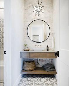 Cozy Relaxing Farmhouse Bathroom Design Ideas – Home Interior and Design Bathroom Renos, Bathroom Interior, Small Bathroom, Bathroom Ideas, Bathroom Pictures, Downstairs Bathroom, Remodel Bathroom, Small Wc Ideas Downstairs Loo, Master Bathroom