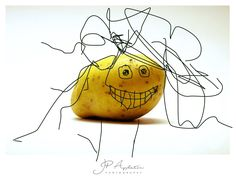 Mr. Potato.....with added doodle by Little Betty my 5 year old daughter.