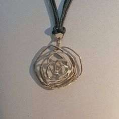Collezione Rosa d'argento ciondolo di NeoArtigianatoGirau su Etsy
