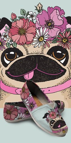 Do you love Pugs? Check out our amazing Pug Shoes, Bags, Socks and more!