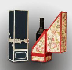 SVG Wine Bottle Gift Box DIGITAL download van MySVGHUT op Etsy