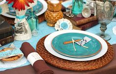 Thanksgiving table setting - great colors, love the Wishbones!  (They come from BridesVillage.com)