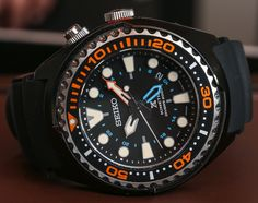 """Seiko Prospex Kinetic GMT Diver's 200m Watch Hands-On - by Ariel Adams - See all the photos and read more on aBlogtoWatch.com """"Seiko Prospex watches are among the best sport watches out there when you want a very good bang for your buck. Rare in the United States, but popular in places such as Japan, the Prospex collection is understandably becoming more popular each year..."""" #ABTWBaselworld2014"""