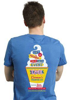 Carmen's Italian Ice - T-shirt Design - by Seth Design Group