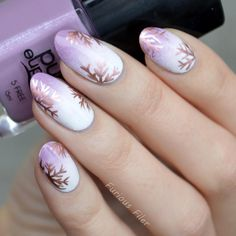 """Not your usual winter mani but I was really feeling like purple nail polish! This is my fist ever entry to #wnac2015 woo! The snowflakes are #freehand…"""