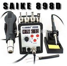 41.70$  Buy now - http://ali3y6.worldwells.pw/go.php?t=32710209111 - 1pcs  SAIKE 898D 2 in 1 Soldering Station Hot Air Gun+welding Iron 220V 110V 41.70$